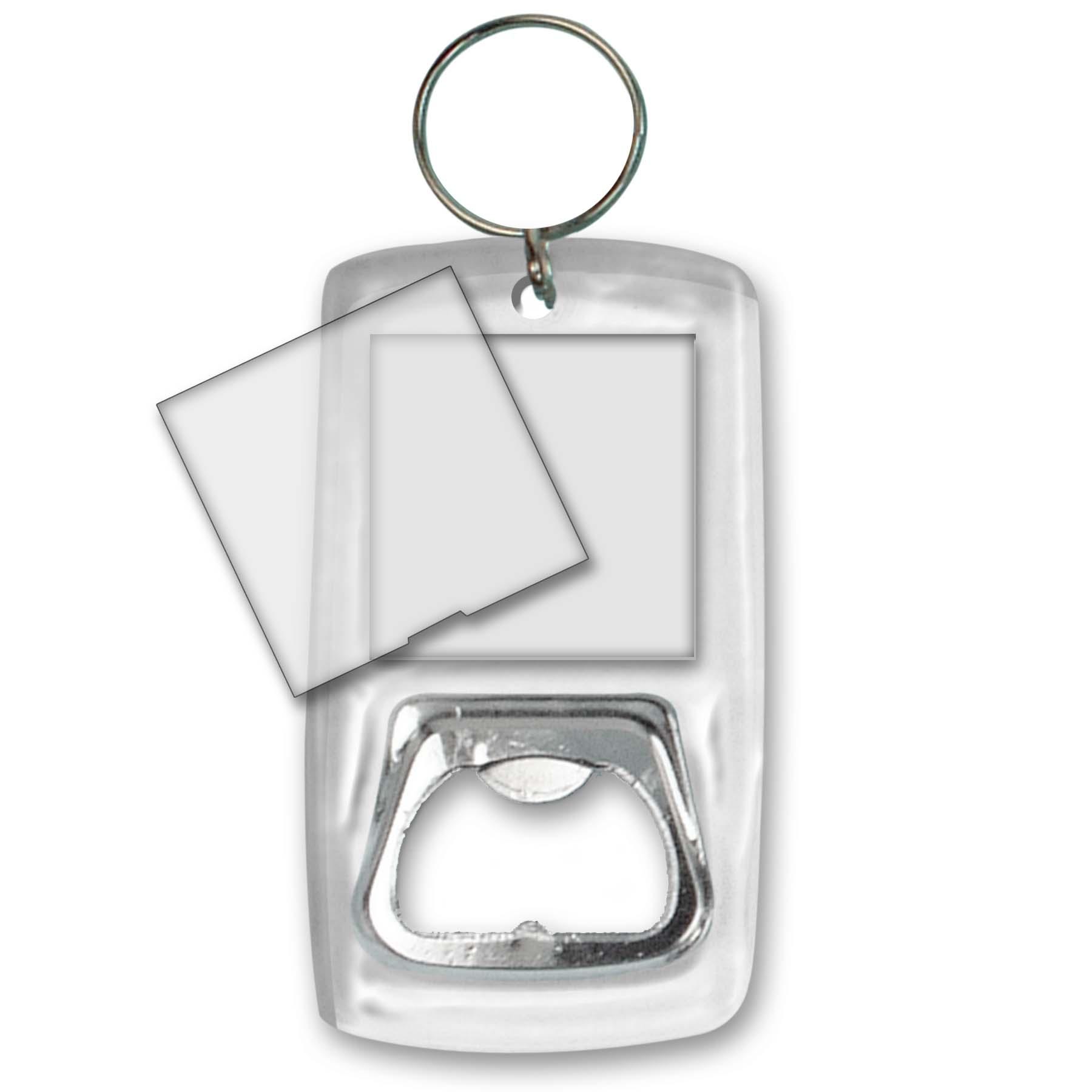 bottle opener blank photo key chain clear acrylic case lot of 12 boa blank s12 ebay. Black Bedroom Furniture Sets. Home Design Ideas