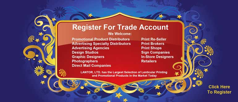 Lenticular Trade Registration Account