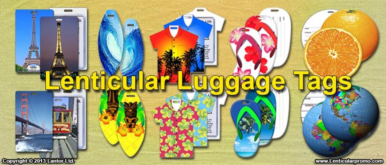 Lenticular Luggage Tags