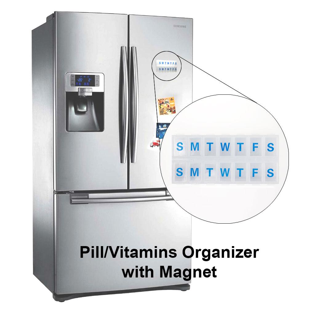 3D Lenticular Magnetic Pill Organizer