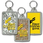 Lenticular acrylic key chain with USA American money, dollars and ...