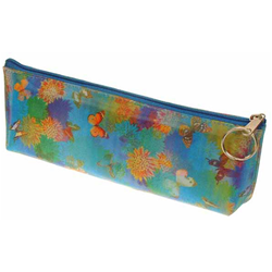 Lenticular Pencil Case With Cute Spring Flowers And